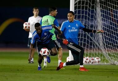 Keylor Navas durante un entrenamiento con el Real Madrid. realmadrid.com