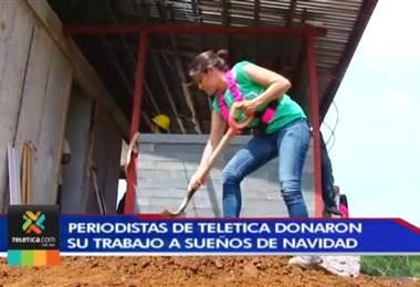 Grupo de periodistas de Canal 7 se unió para construir una de las casas de Sueño de Navidad