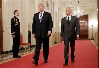 Donald Trump. Jim Mattis. AFP.
