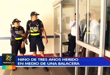 Menor con impacto de bala ingresa en condición delicada al Hospital de Niños