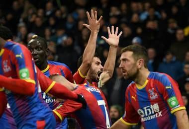 Luka Milivojevic del Crystal Palace. AFP