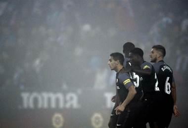 Sevilla logra empatar. AFP