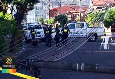 Trabajador de la Municipalidad de San José murió electrocutado por tendido eléctrico