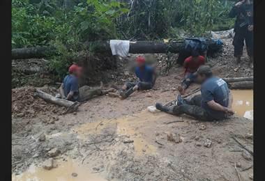 Siete personas detenidas en crucitas por extracción ilegal de oro