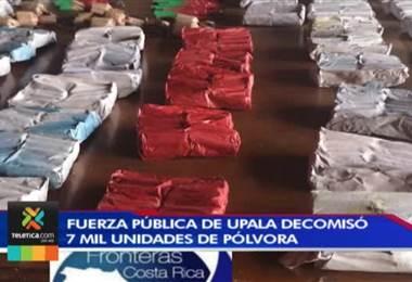 Fuerza Pública de Upala decomisó 7.000 unidades de pólvora a menores de edad