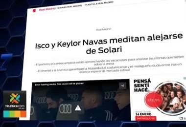 Prensa internacional da por un hecho que Keylor Navas abandonará el Real Madrid en enero