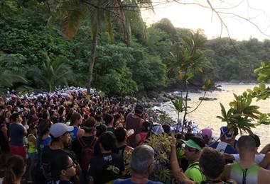Decenas de personas acudieron a la Serie triatlón BMW en Quepos.|Natalia Jiménez