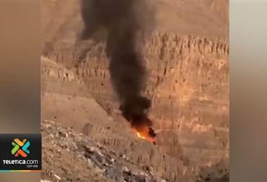 Accidente aéreo involucró al canopy más largo del mundo construido por ticos en Emiratos Árabes