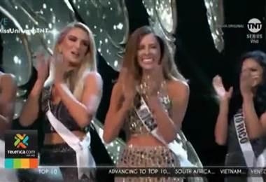 Natalia Carvajal volvió este lunes al país después de su destacada participación en Miss Universo