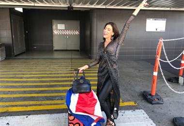Natalia Carvajal volvió este lunes al país después de su destaca participación en Miss Universo. Josué Sánchez