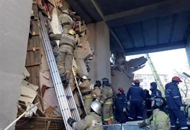 Al menos tres muertos en una explosión de gas en Rusia.|AFP