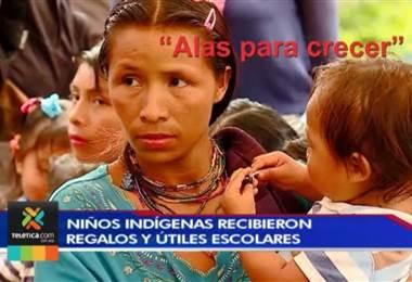 """Proyecto """"Alas para crecer"""" del SVA benefició a cientos de niños indígenas este fin de año"""