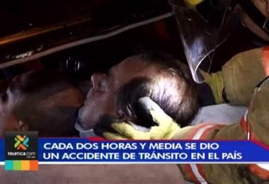 Cada dos horas y media ocurrió un accidente de tránsito en nuestro país en los últimos dos días