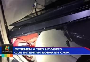 Policía detuvo a tres hombres que tacharon una casa en Cartago e intentaron robar en otra