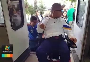 Anden del tren en Universidad Latina ya cuenta con acceso para sillas de ruedas