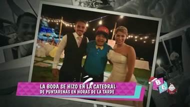 La boda se hizo en la catedral de Puntarenas durante un hermoso atardecer. Más información en el video adjunto.