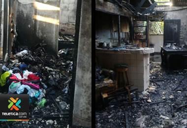 4 adultos y 4 niños lo perdieron todo en un incendio en Limó