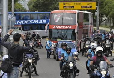 River Plate parte rumbo a Madrid para jugar la final de Libertadores ante Boca Juniors. AFP