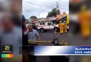 Impacto de autobús contra local comercial dejó 10 personas heridas en Alajuelita