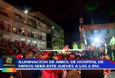 25 mil luces adornarán árbol del Hospital Nacional de Niños