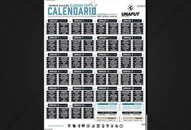 Calendario Torneo de Clausura 2019