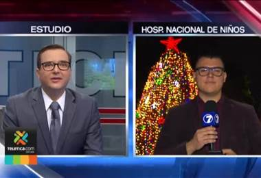 Hospital de Niños iluminó su árbol de Navidad con 25.000 luces