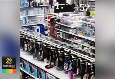 Autoridades buscan a sospechoso de roba en local comercial en Alajuela