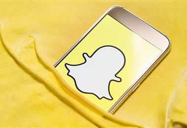 La aplicación Snapchat.