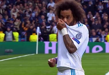 Marcelo anotó el tercer gol para el Real Madrid