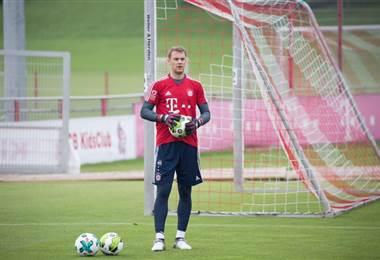 Manuel Neuer, portero alemán del Bayern Munich.