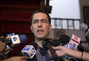 Jorge Arreaza, canciller venezolano. AFP