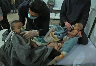 Bebés afectados por la violencia en Siria. AFP