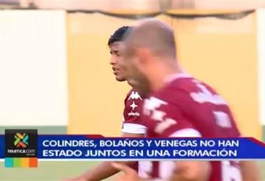 Saprissa pondrá el tridente inédito de Bolaños, Venegas y Colindres ante Herediano