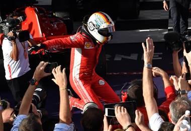 Sebastian Vettel, piloto de Ferrari. AFP