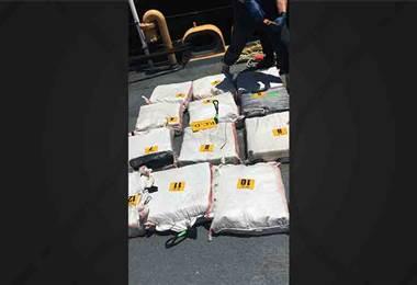 PCD decomisó importante cargamento de droga en barco costarricense