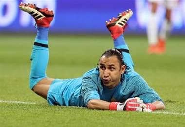 Navas apareció poco ante Túnez. Fue un partido relativamente tranquilo para el del Madrid. AFP