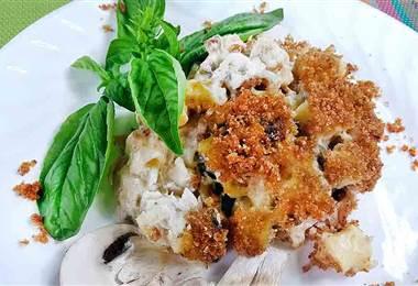 Receta: Cacerola de pasta, atún y hongos
