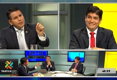 Así vivieron los dos candidatos presidenciales los minutos previos al debate de su Teletica