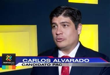 Candidatos presidenciales Fabricio y Carlos Alvarado reaccionaron tras el debate de Telenoticias