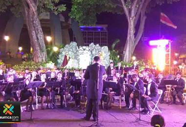 Banda Municipal de San José realizó concierto de música sacra en el Parque Central