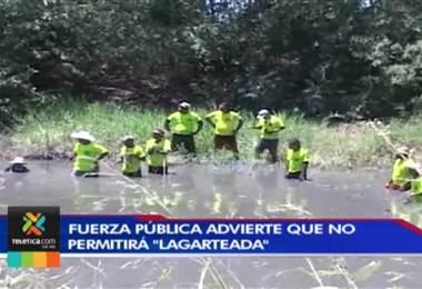 """Fuerza Pública reforzará presencia en Santa Cruz ante posibilidad de que se realice la """"lagarteada"""""""