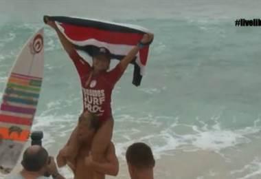 Leilani McGonagle logró la victoria en el WQS de Barbados. FSC