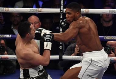 Boxeador británico Anthony Joshua.|AFP