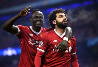 Mohamed Salah, delantero egipcio del Liverpool de Inglaterra.