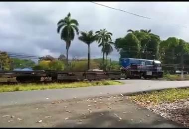 Choque tren con auto