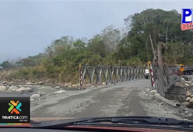 Vecinos de Pérez Zeledón se mantendrán en vigilia atentos a que MOPT no quite el puente