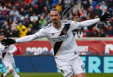 Zlatan Ibrahimovic, delantero sueco de LA Galaxy.