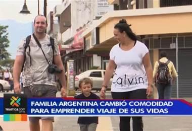 Familia argentina viaja en carro hacia Alaska y en su aventura pasa por Costa Rica