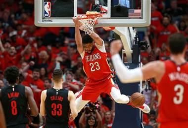 Anthony Davis de los Pelicans. AFP