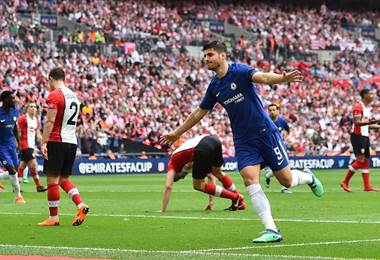 Álvaro Morata del Chelsea. AFP